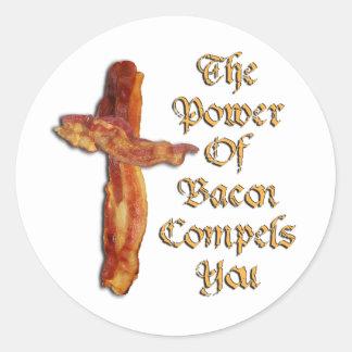 Bacon Power Classic Round Sticker
