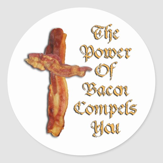Bacon Power Classic Round Sticker