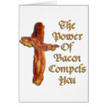 Bacon Power Greeting Cards
