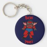bacon power key chain