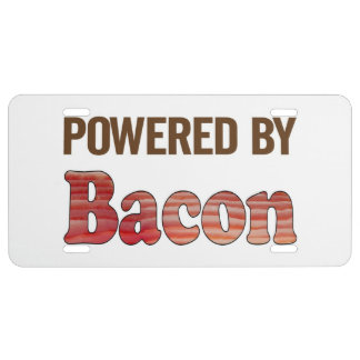 Bacon Power License Plate