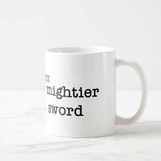 Bacon Press is Migthier than the Sword Classic White Coffee Mug