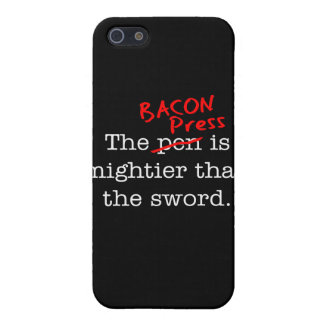 Bacon Press is Migthier than the Sword Cover For iPhone 5/5S