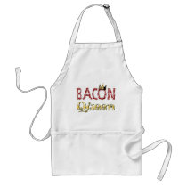 Bacon Queen with Crown Adult Apron