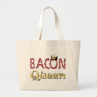 Bacon Queen with Crown Large Tote Bag