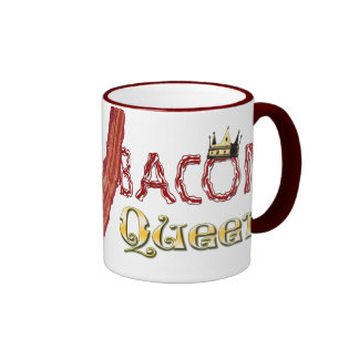 Bacon Queen with Crown Ringer Coffee Mug