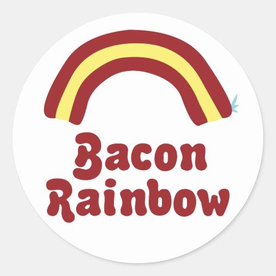 Bacon Rainbow Classic Round Sticker