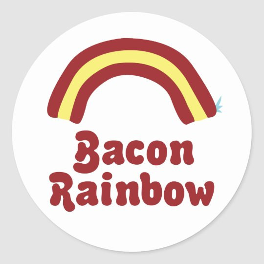 Bacon Rainbow Classic Round Sticker