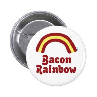 Bacon Rainbow Pinback Button