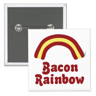Bacon Rainbow Pinback Buttons