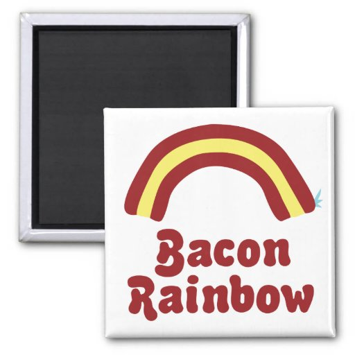 Bacon Rainbow Refrigerator Magnets