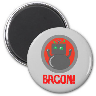 Bacon Robot Refrigerator Magnets