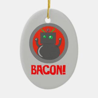 Bacon Robot Christmas Tree Ornament