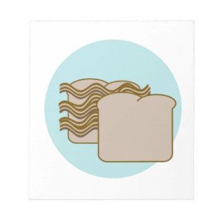 Bacon sandwich memo notepads