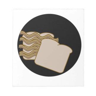 Bacon sandwich memo notepad