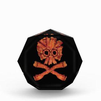 Bacon Skull and Crossbones Acrylic Award