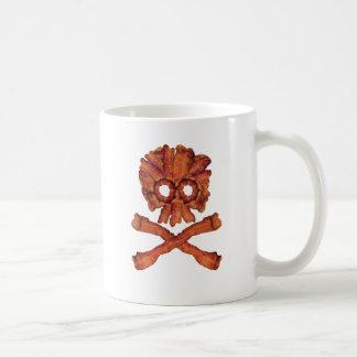 Bacon Skull and Crossbones Coffee Mug