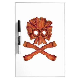 Bacon Skull and Crossbones Dry Erase Whiteboards