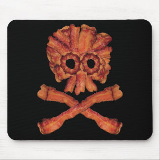 Bacon Skull and Crossbones Mouse Pad
