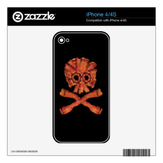 Bacon Skull and Crossbones Decal For iPhone 4