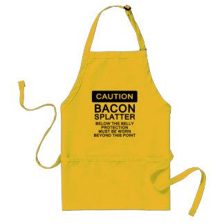 Bacon Splatter Caution Adult Apron