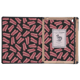 Bacon Strips Pattern iPad Folio Cases