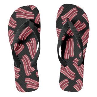 Bacon Strips Pattern Flip Flops