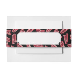 Bacon Strips Pattern Invitation Belly Band