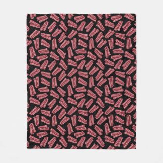 Bacon Strips Pattern Fleece Blanket