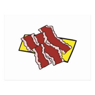 bacon strips postcard