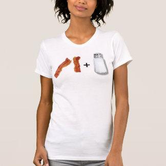 bacon strips, saltshaker, + T-Shirt