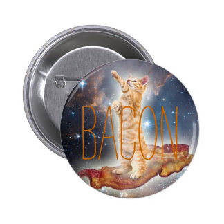 Bacon Surfing Cat Buttons