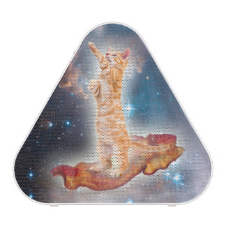 Bacon Surfing Cat in the Universe Bluetooth Speaker