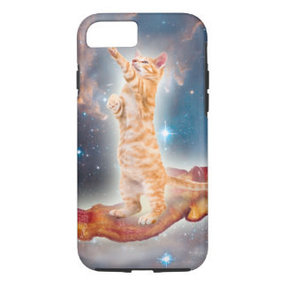 Bacon Surfing Cat in the Universe iPhone 7 Case
