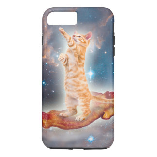 Bacon Surfing Cat in the Universe iPhone 7 Plus Case