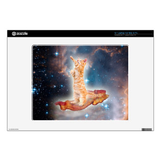 Bacon Surfing Cat in the Universe Laptop Decal