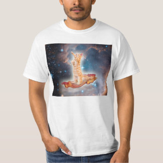 Bacon Surfing Cat in the Universe Tee Shirt