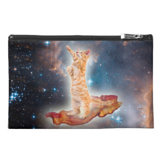 Bacon Surfing Cat in the Universe Travel Accessory Bag