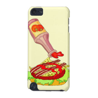Bacon swiss cheeseburger with ketchup iPod touch 5G cases