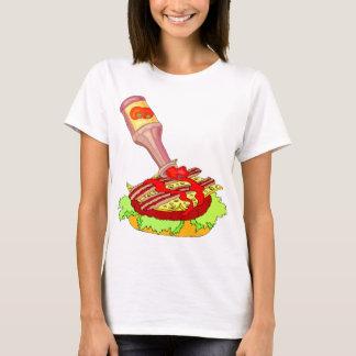 Bacon swiss cheeseburger with ketchup T-Shirt