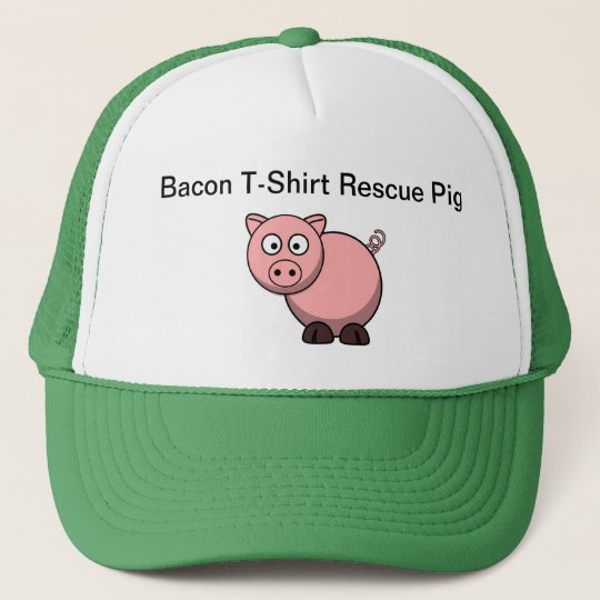 Bacon T-shirt Rescue Pig Trucker Hat