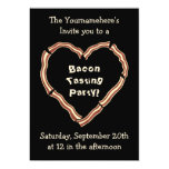 Bacon tasting party 5x7 paper invitation card