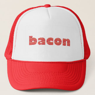 Bacon Text Trucker Hat