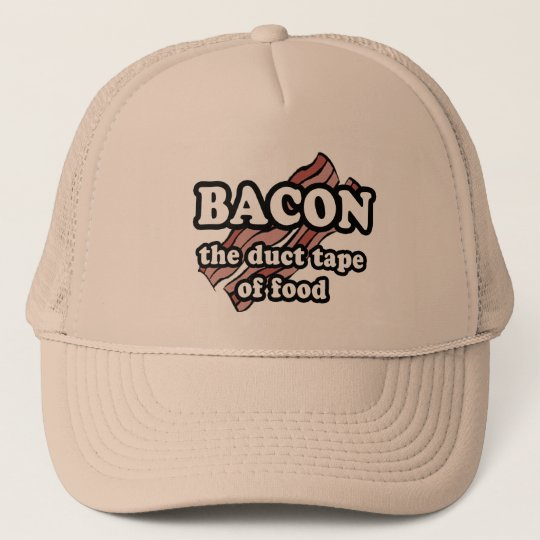 Bacon the Duct Tape of Food Trucker Hat