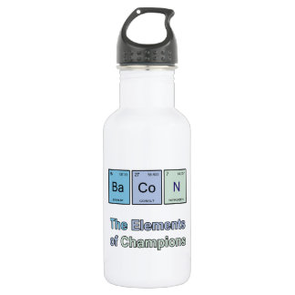 Bacon, The Elements of Champions 18oz Water Bottle