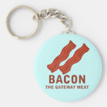 Bacon, The Gateway Meat Basic Round Button Keychain