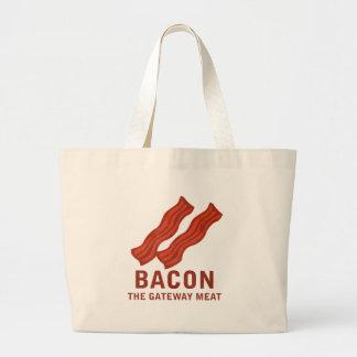 Bacon, The Gateway Meat Large Tote Bag