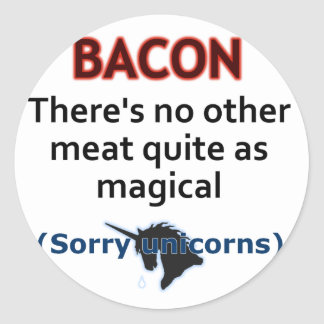 Bacon, the Magical Meat Round Sticker