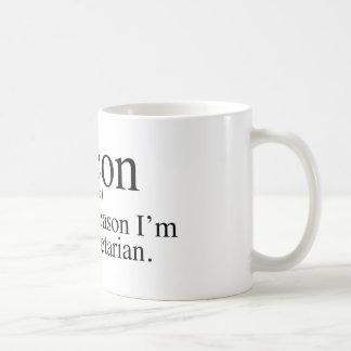 Bacon - The main reason I'm not a vegetarian. Classic White Coffee Mug