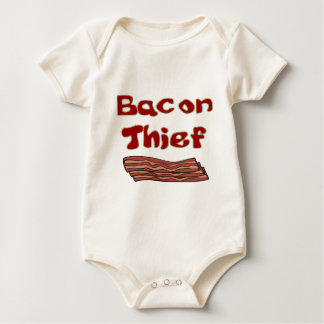 bacon thief baby bodysuit